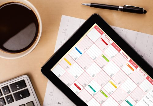 Creating a work schedule