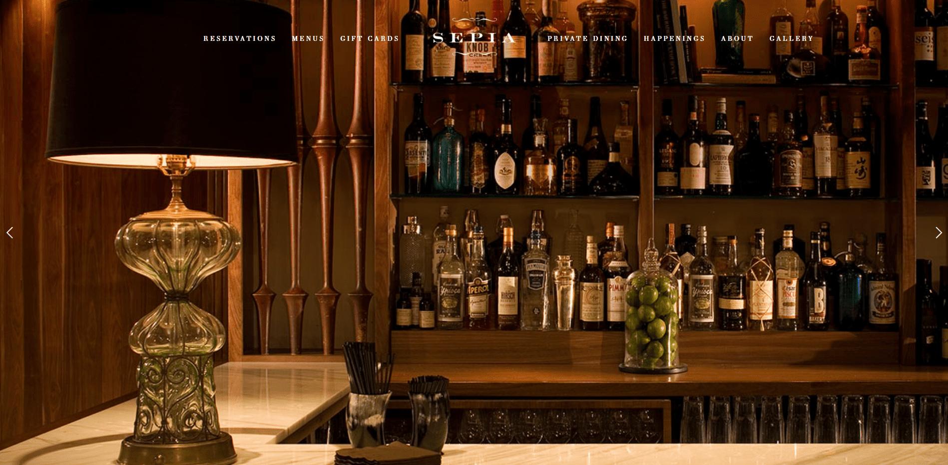 Sepia restaurant websites