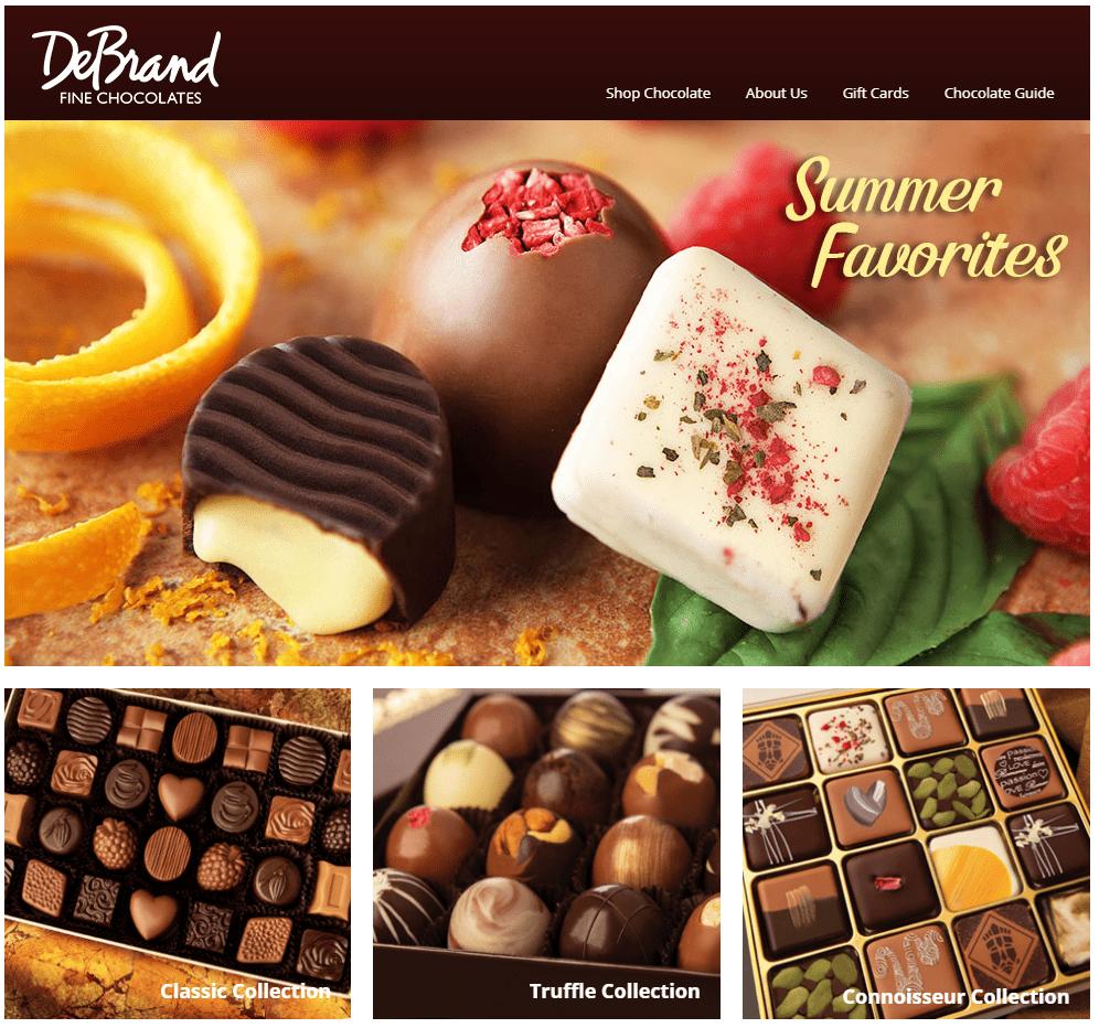 DeBrand Fine Chocolates restaurant websites