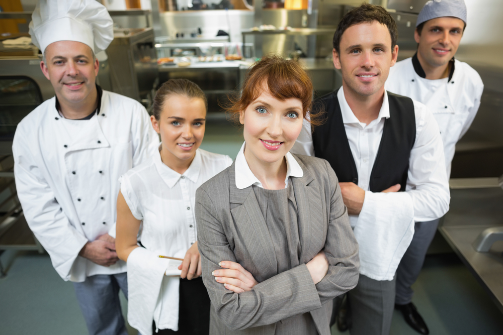 Employees managing a restaurant