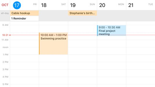 Fantastical 2 Work Schedule App