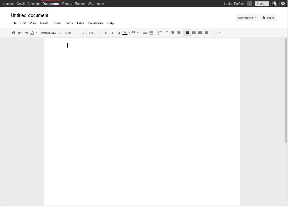 Google Docs as a work schedule app