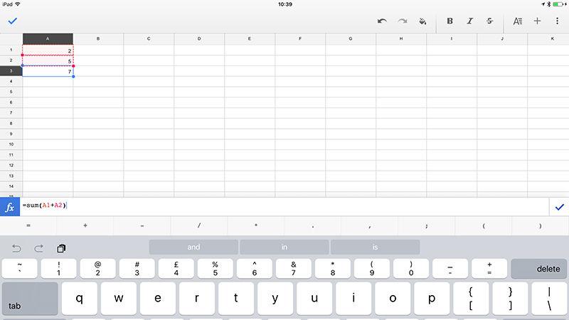 Spreadsheet software as a work schedule app