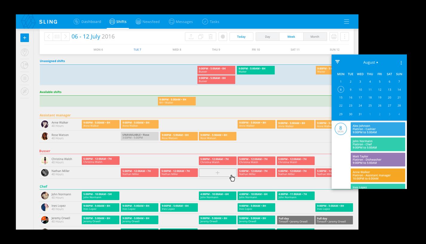 Sling Weekly Schedule Template