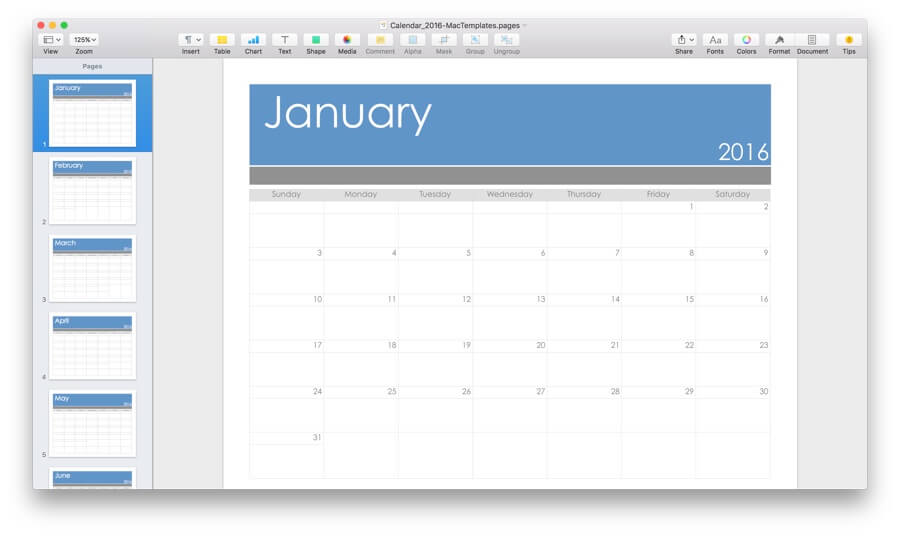 Word processor as a work schedule app
