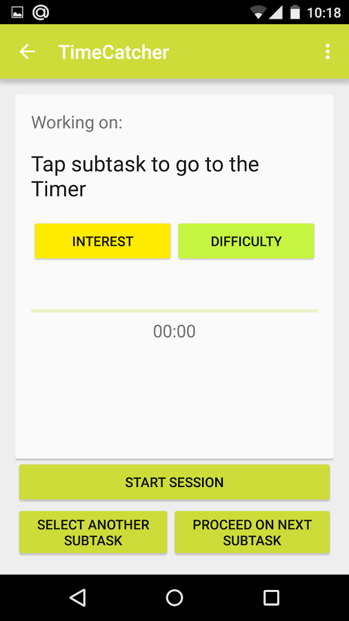 TimeCatcher app for work hours tracking