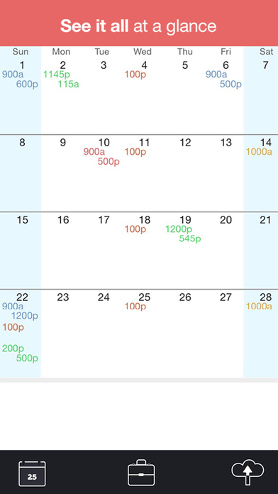 WorkTime work schedule app