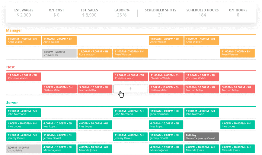 availability schedule maker