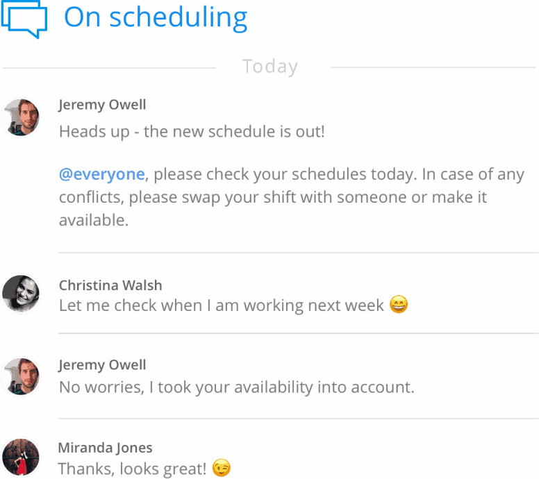 schedule availability template