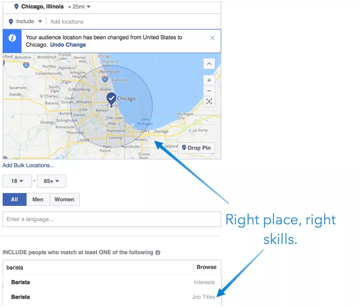 Find employees with Facebook