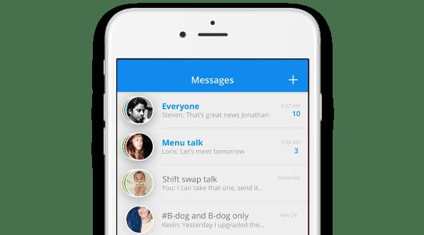 Sling message app for volunteers