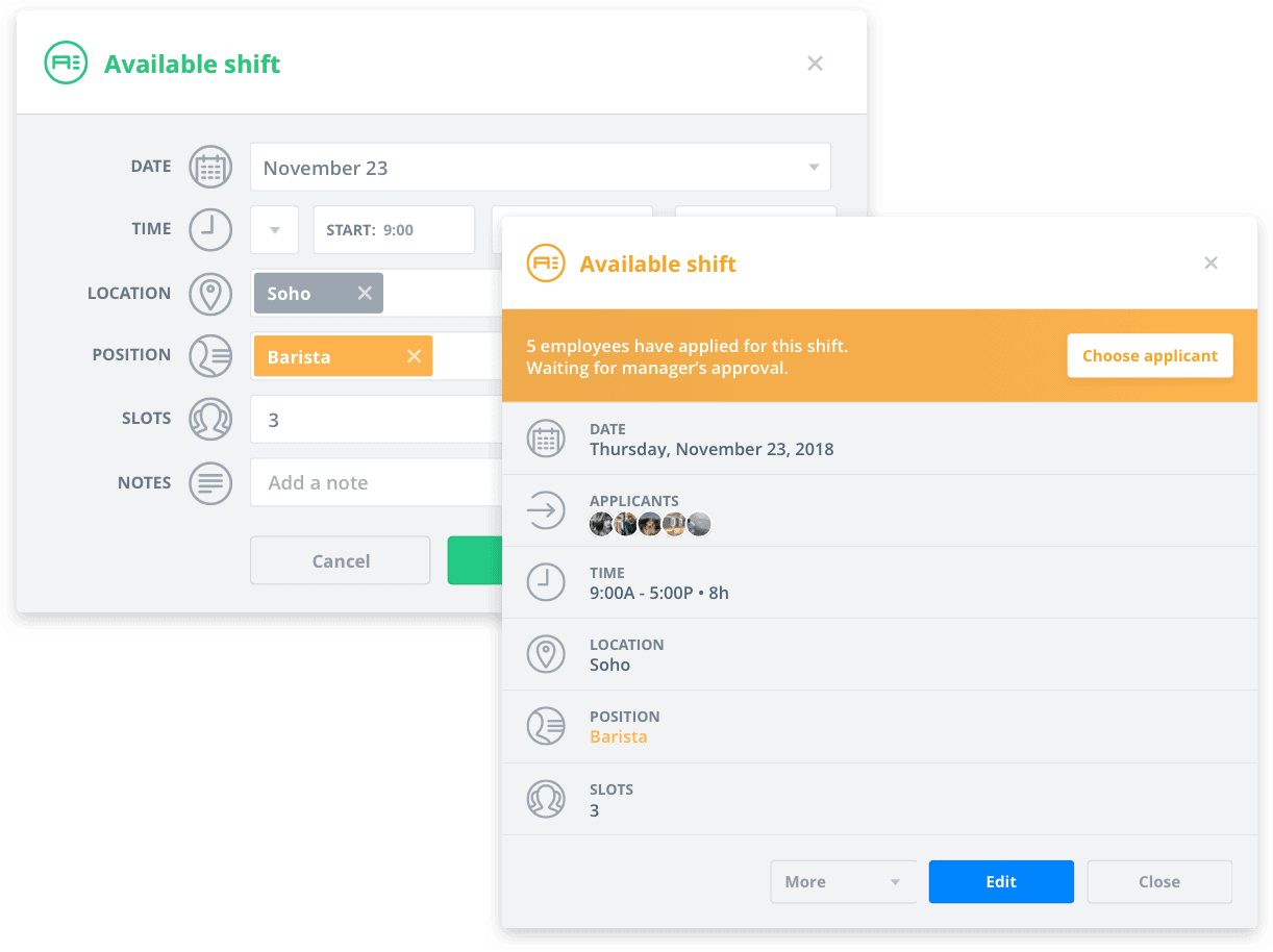 Sling scheduling app that can be useful in combating employee absenteeism