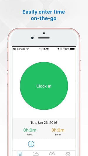 Replicon mobile time clock app