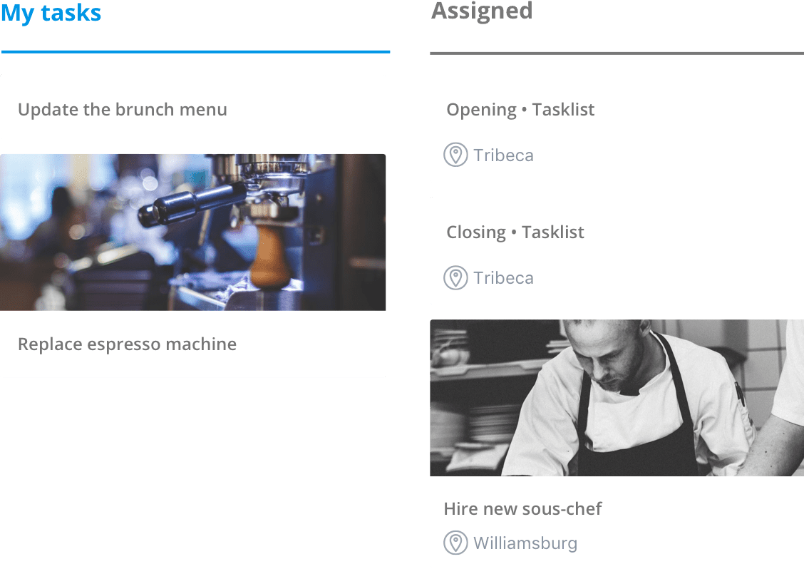 Sling's tasks feature