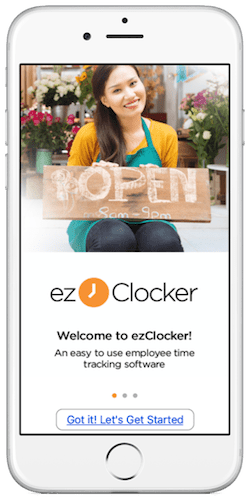 EZClocker mobile time clock app