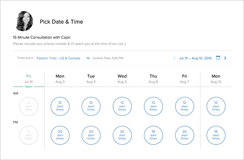 Calendly schedule maker