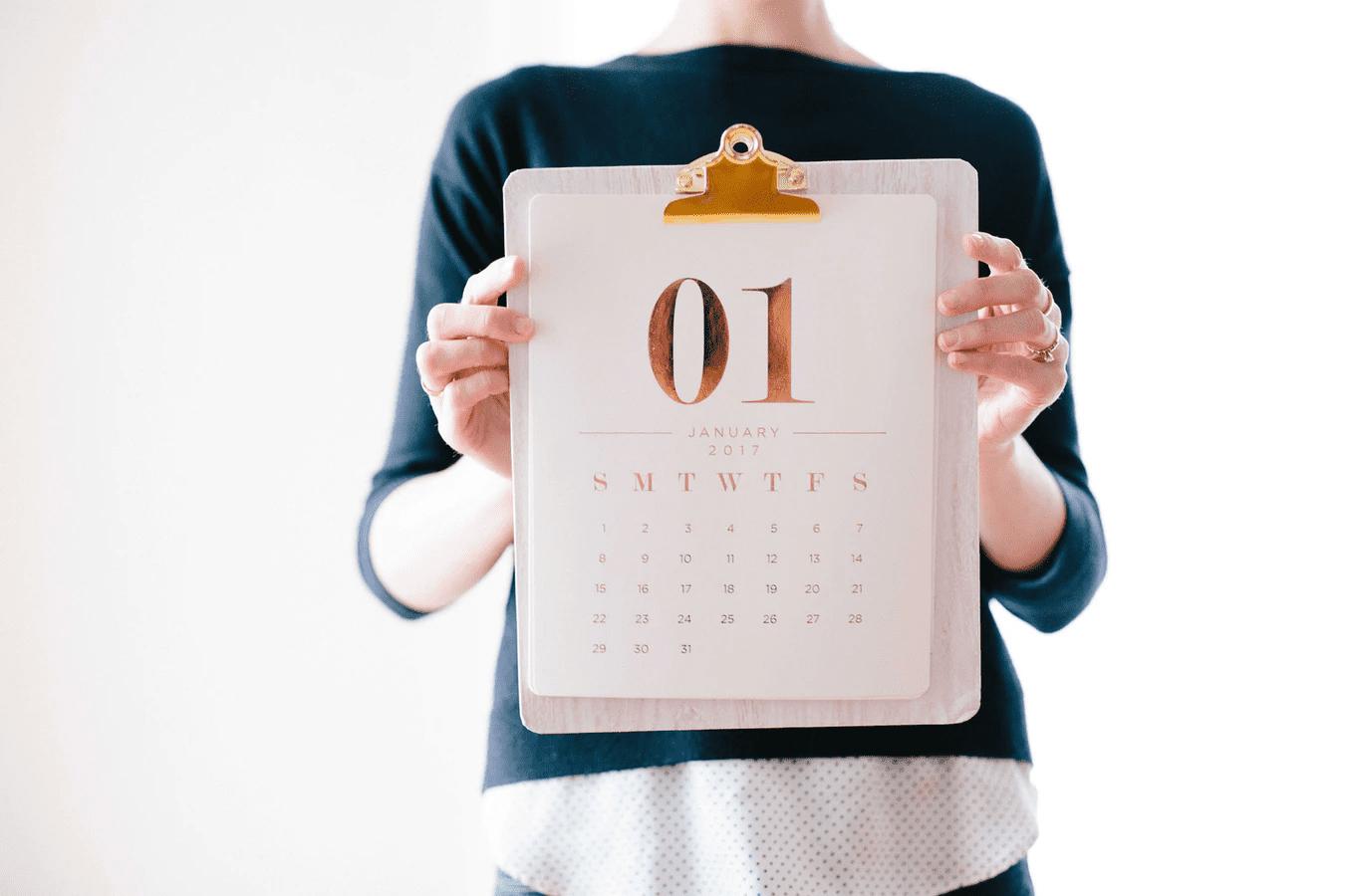 Calendar for setting up flextime schedule