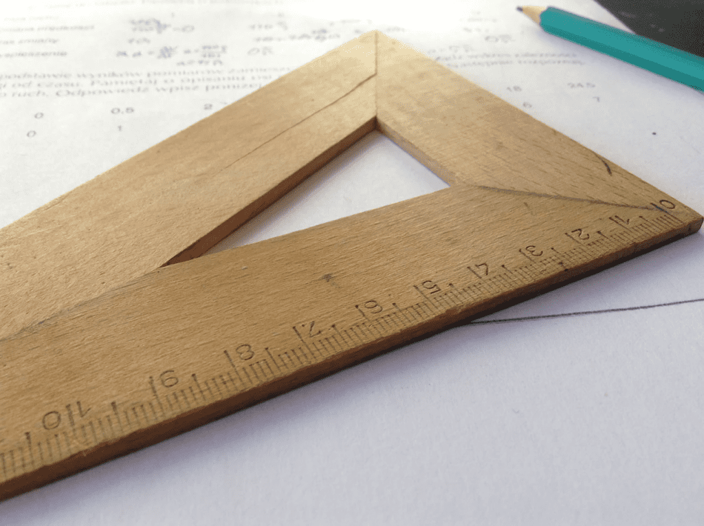 Pencil and ruler on a piece of paper