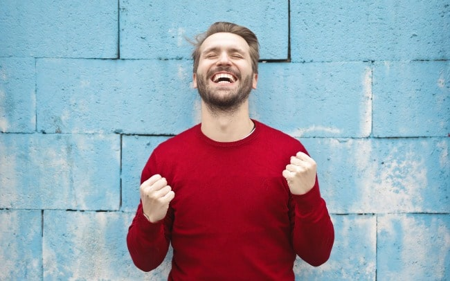 Man excited after winning Employee Of The Month