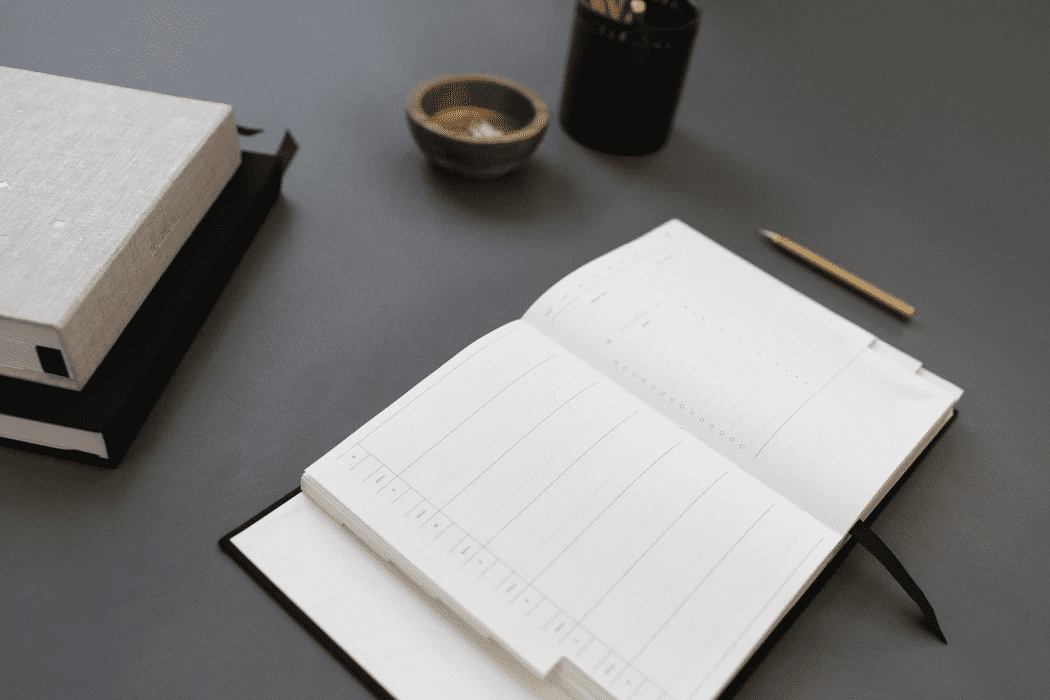 Empty planner for writing down a retail schedule