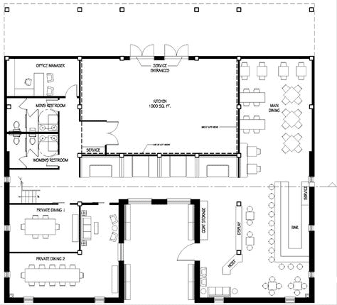 Restaurant dining area floor plan