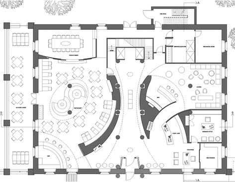 Dining area floor plan
