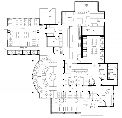 Entryway floor plan