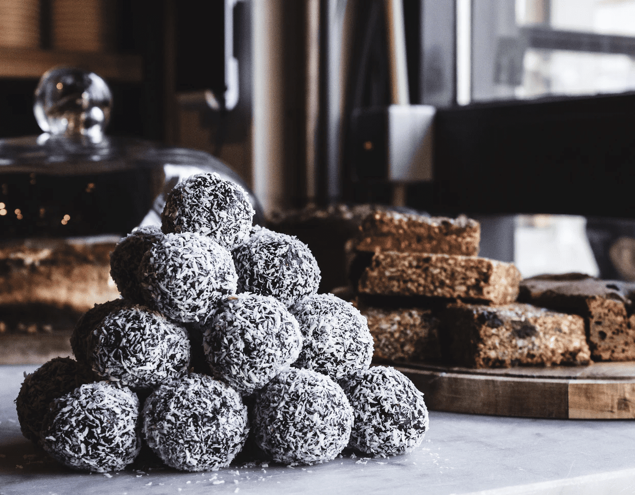 desserts on platters