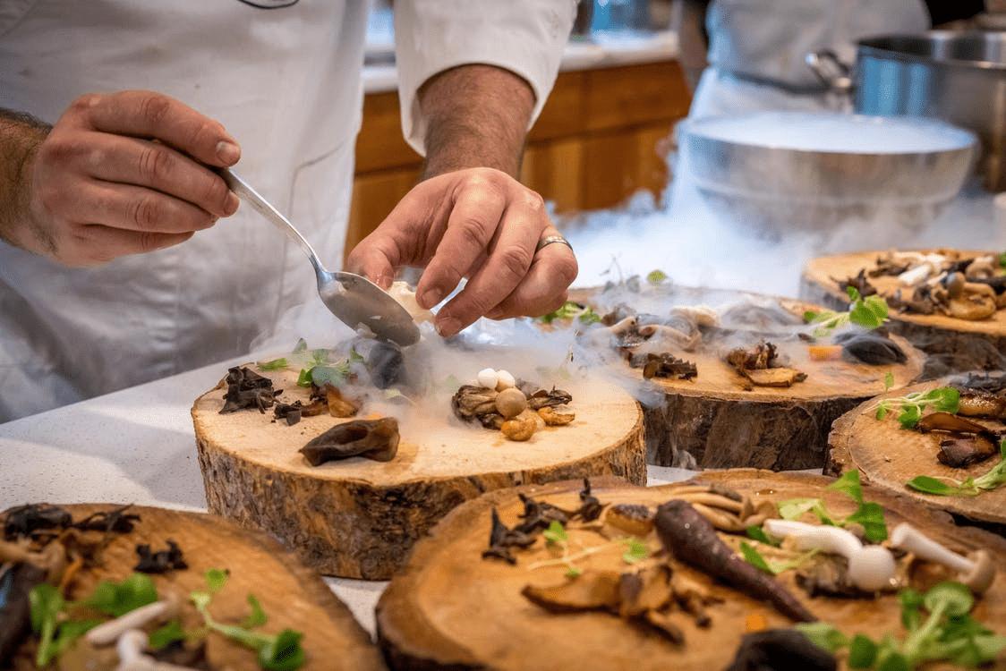 Chef working in a restaurant