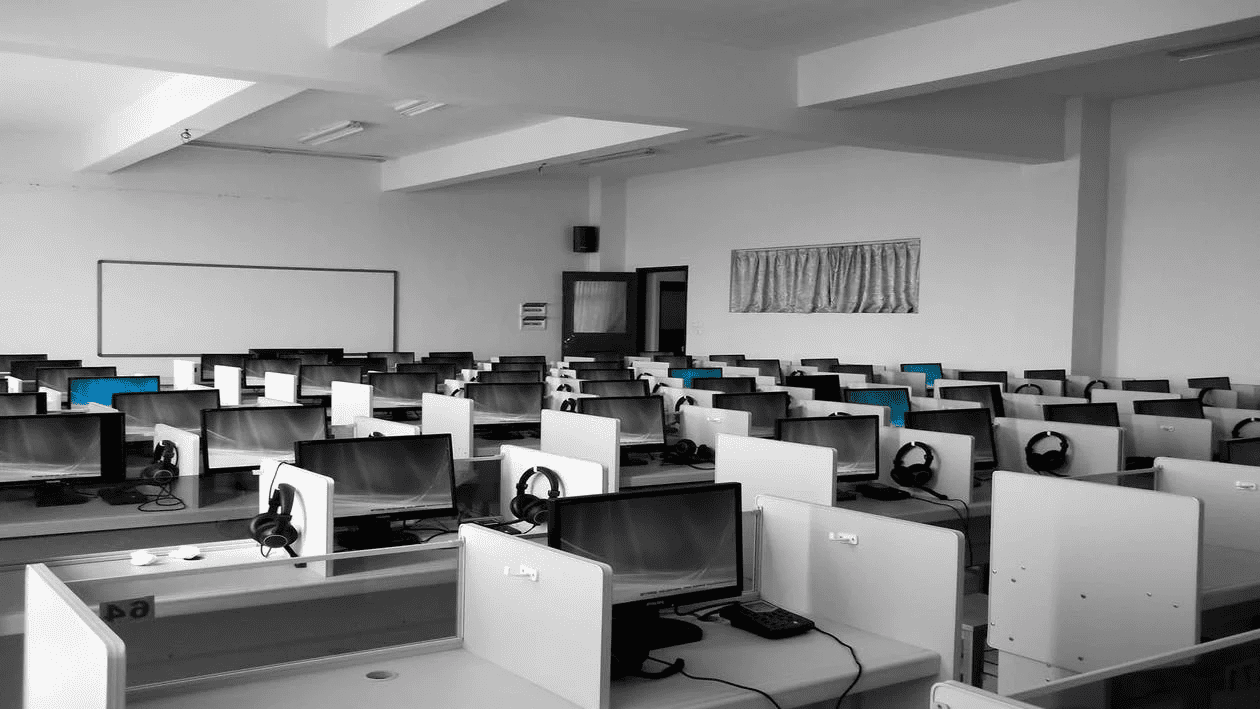 office empty due to job abandonment