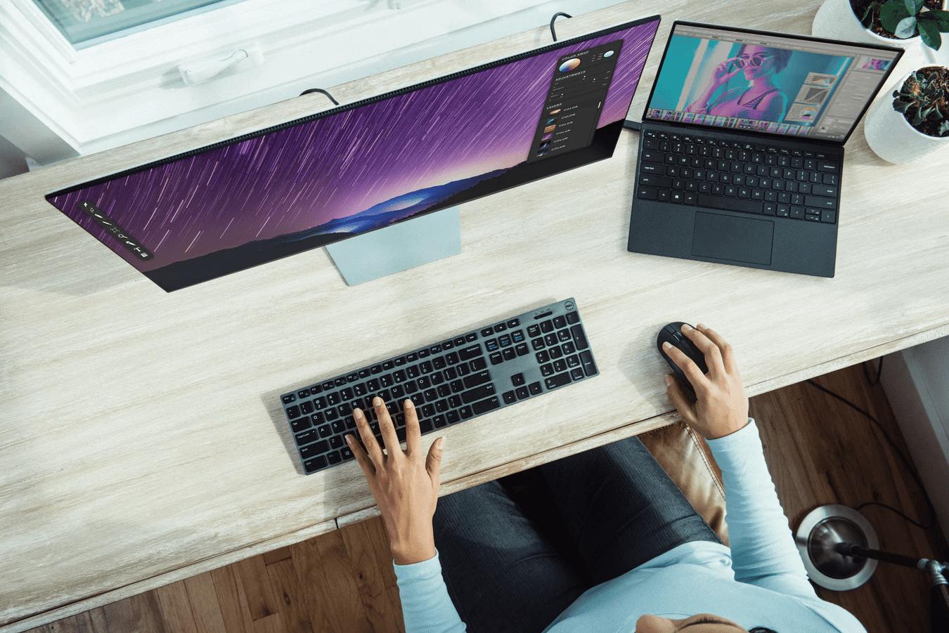 Remote work desktop setup