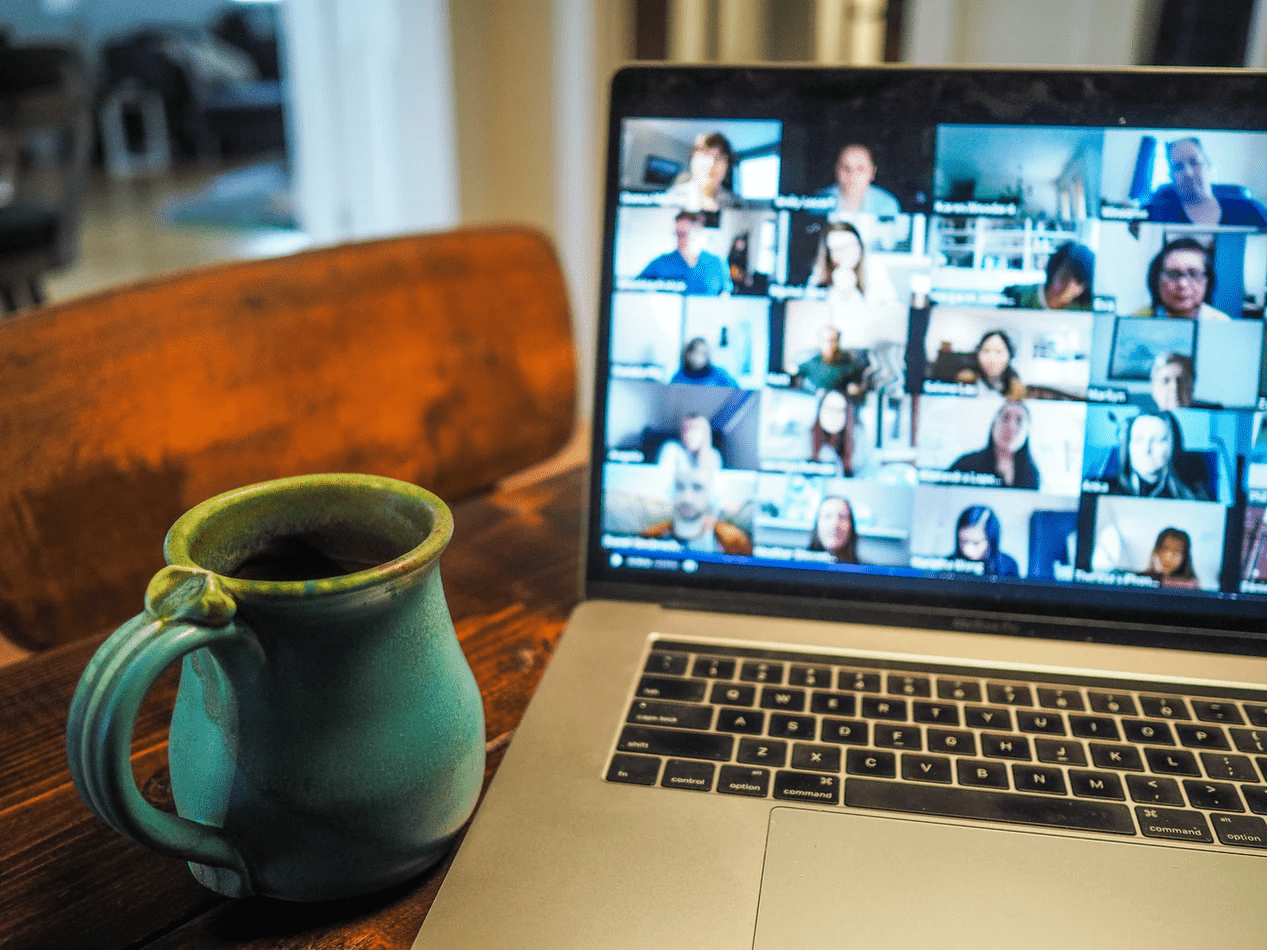 Virtual meeting for employees who do remote work