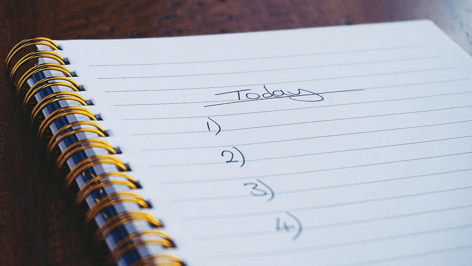 spiral journal for writing down goals