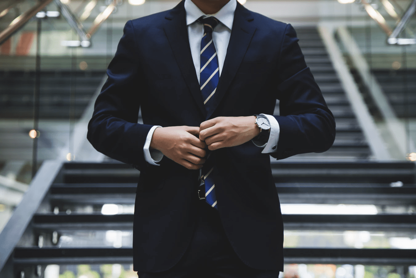 man dressed in a business suit