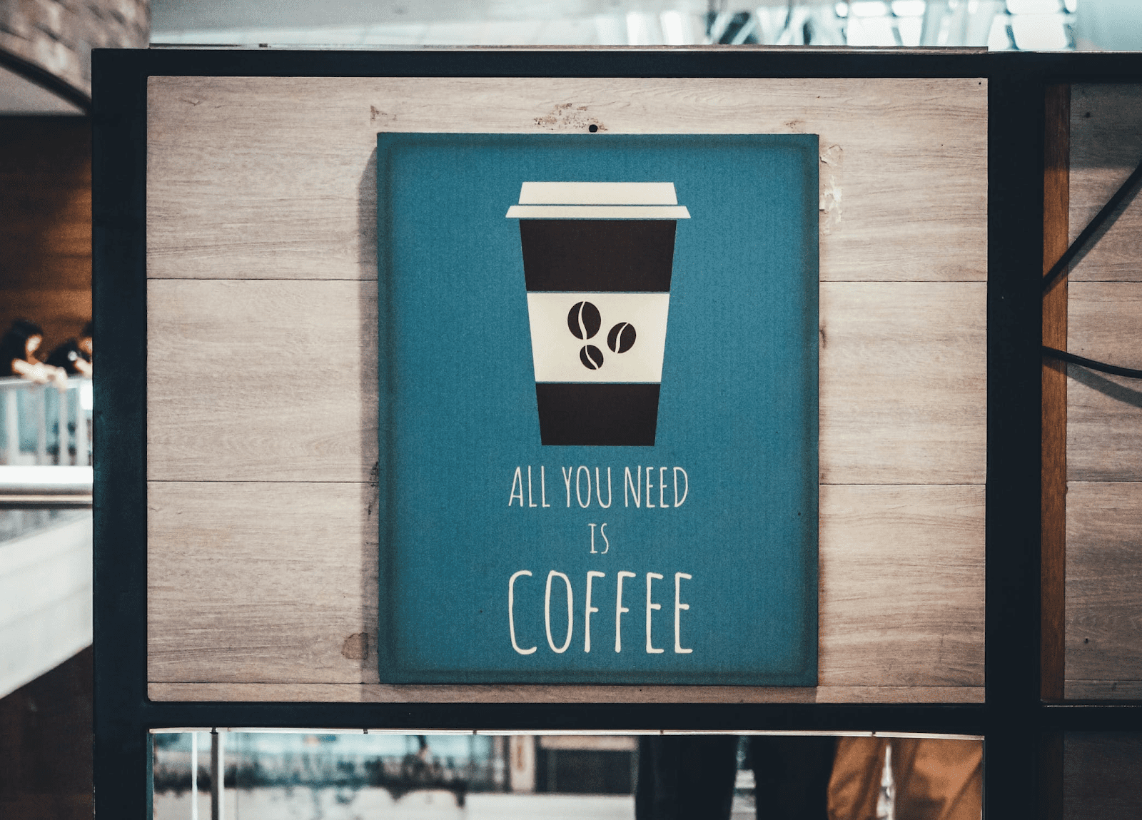 coffee sign in a restaurant