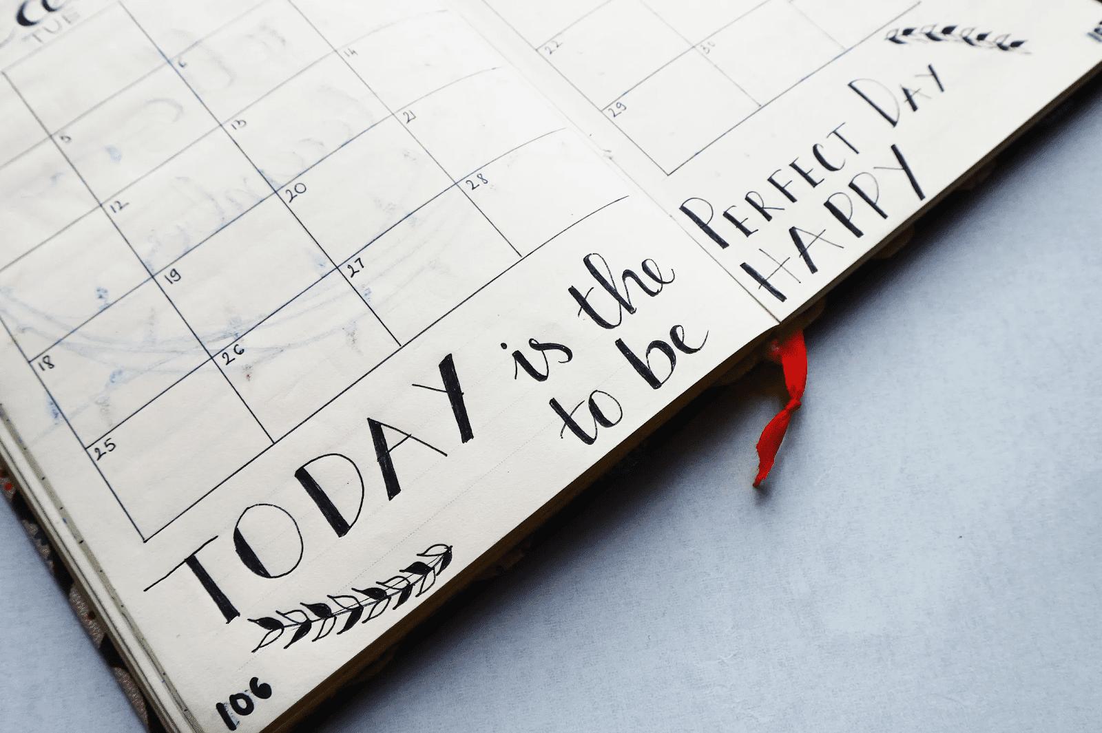 Calendar for creating a flex schedule