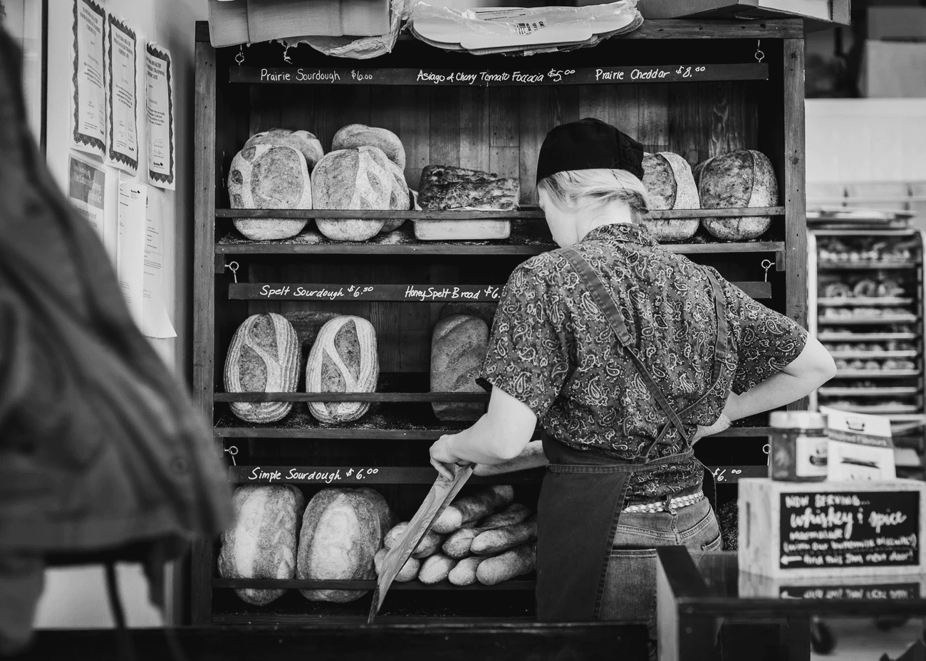 employee working a seasonal schedule at a bakery