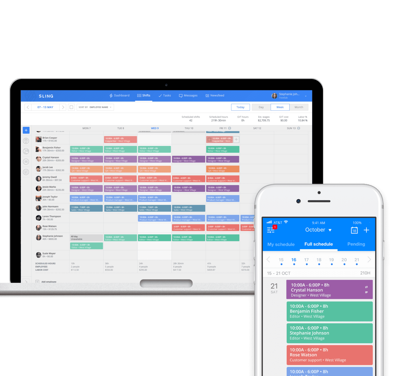 Sling's Scheduling feature