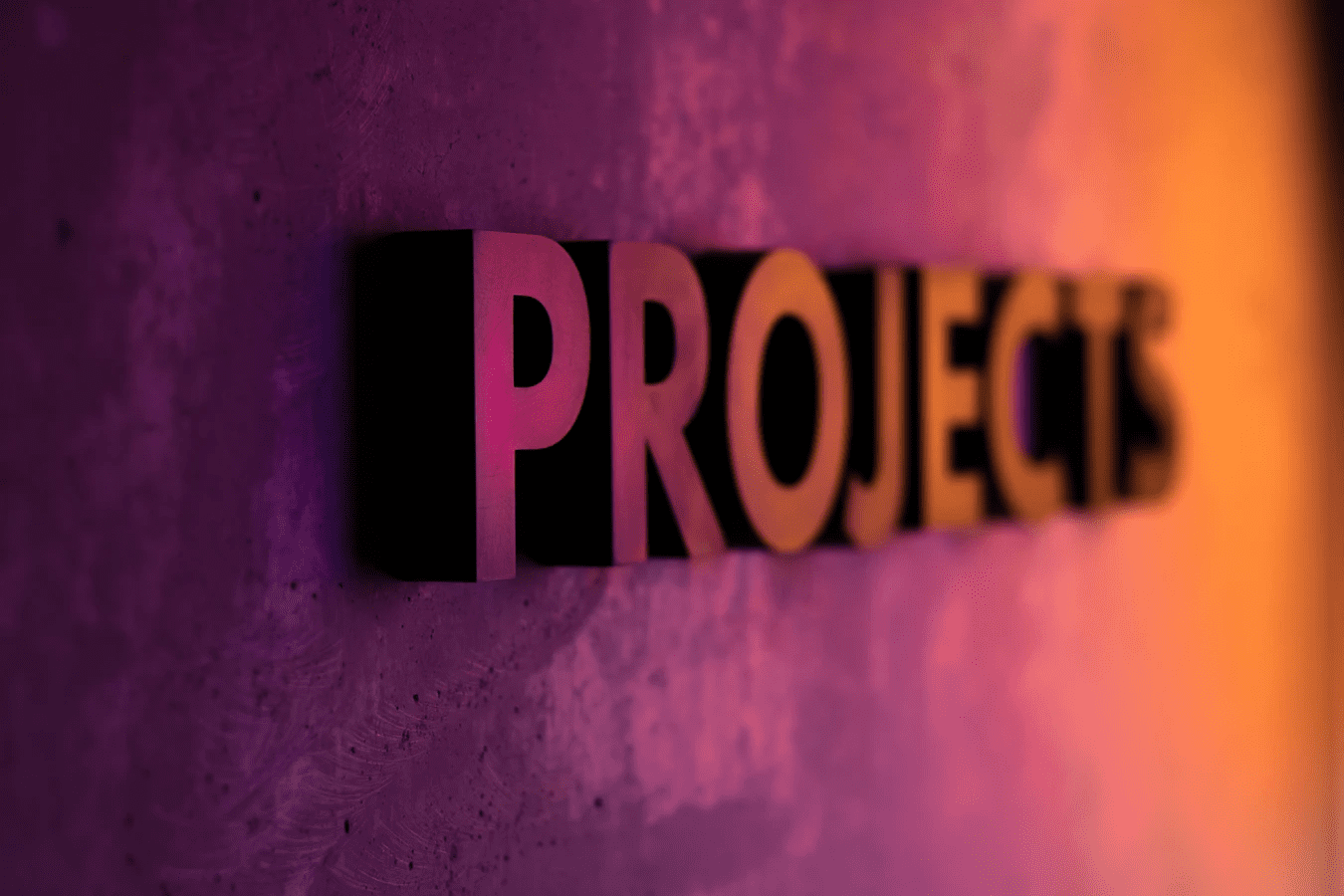 """""""Projects"""" sign"""