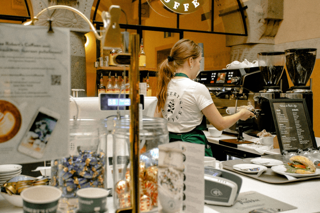 Statutory employee working at a coffee shop
