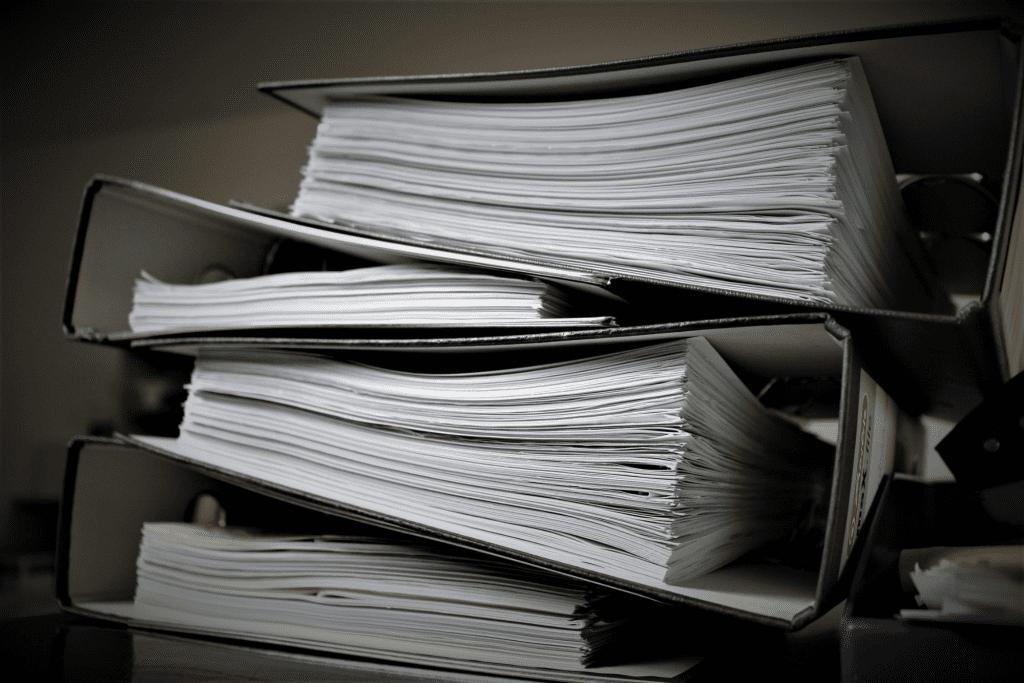 Binders of employee handbook policies
