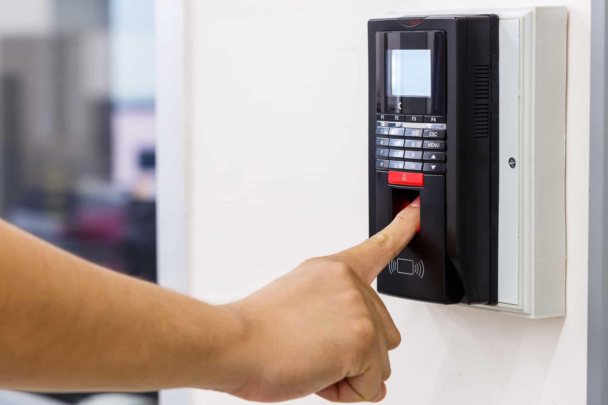 Finger scan biometric time clock