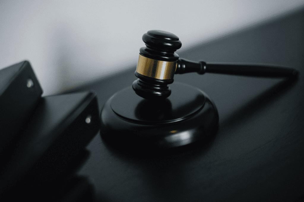 black judge gavel