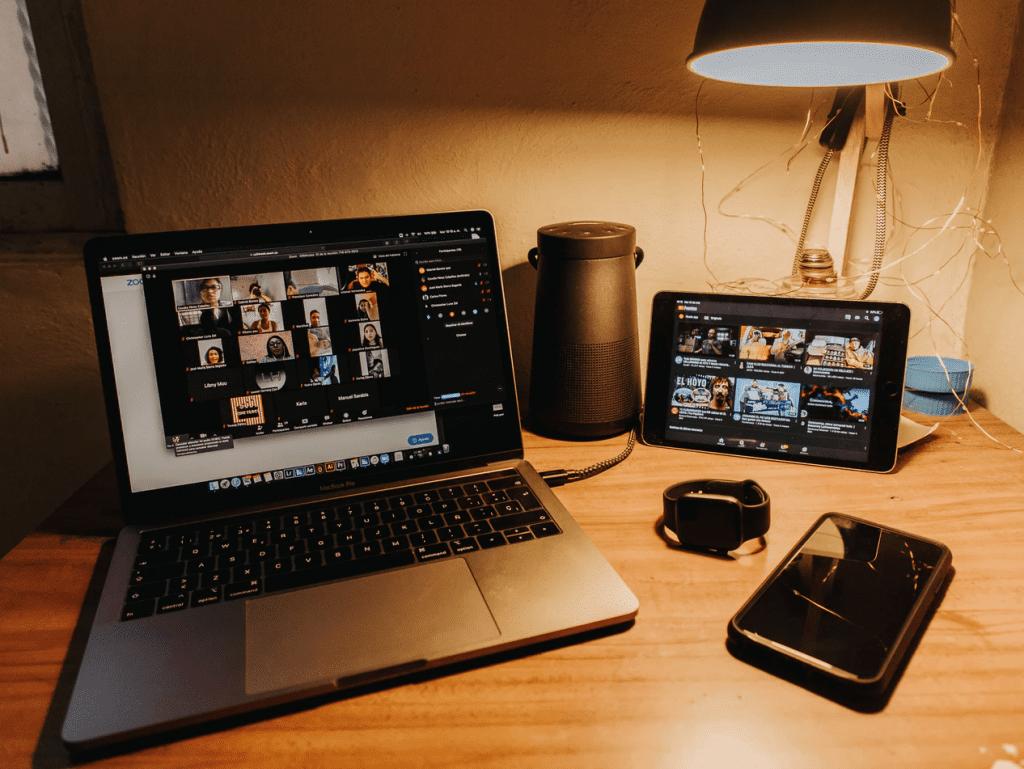 Virtual team building meeting