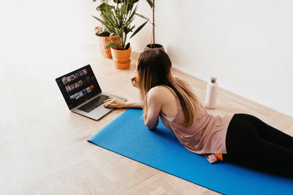 virtual team building through exercise classes