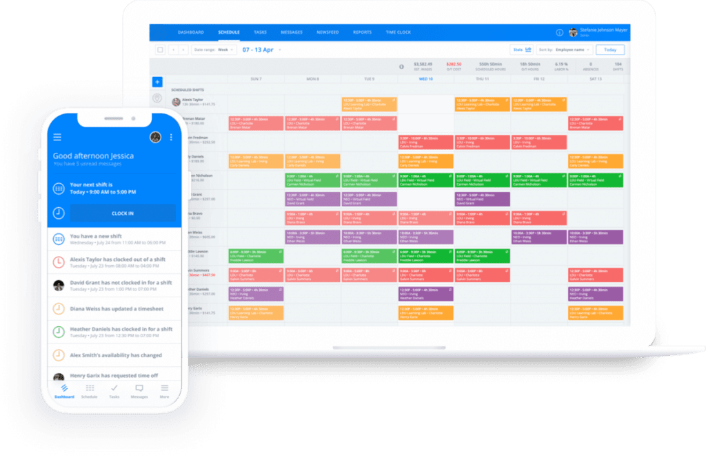 Inside the sling scheduling app to help prioritize virtual training