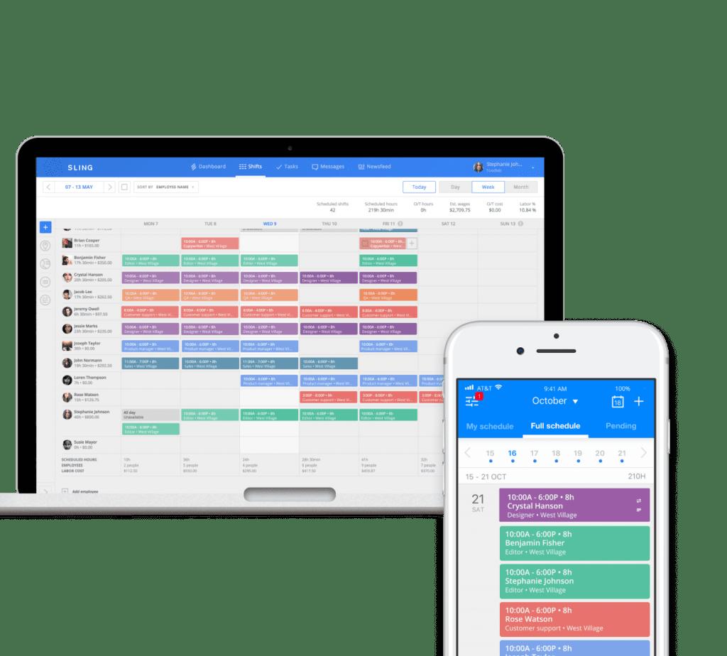 Sling app to help keep a fair workweek