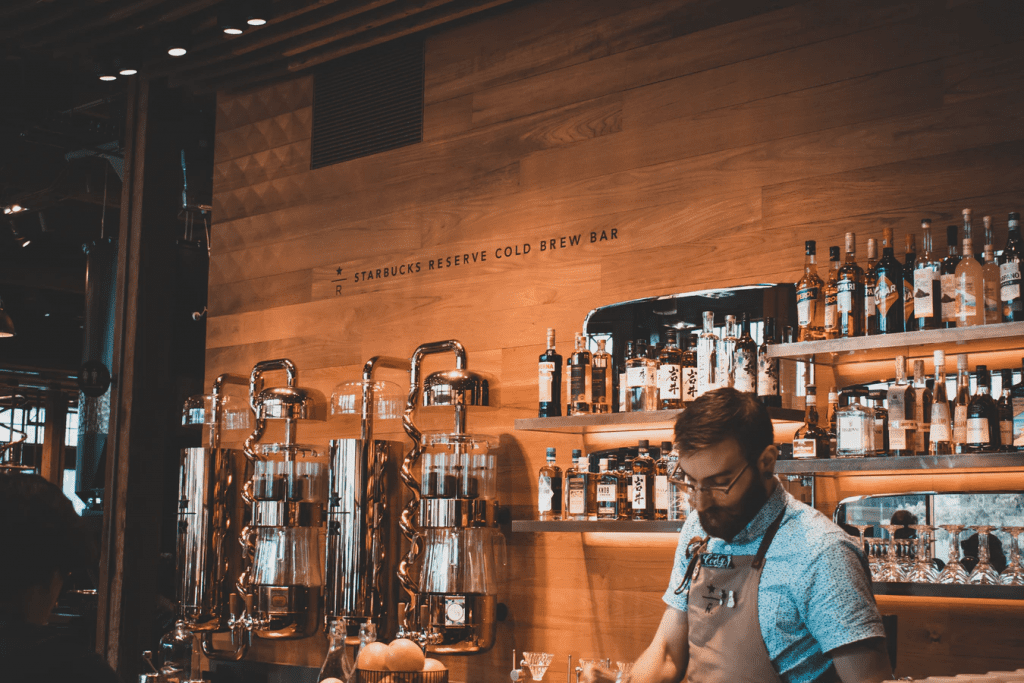 Barista at coffee shop using suggestive selling