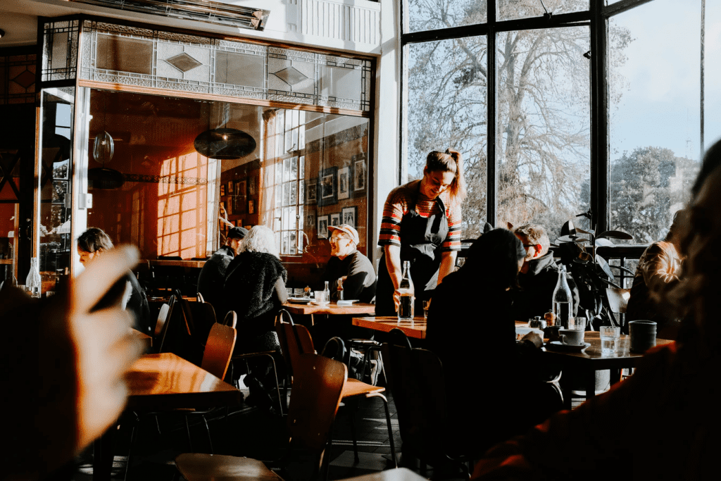 Coffee shop with a restaurant loyalty program
