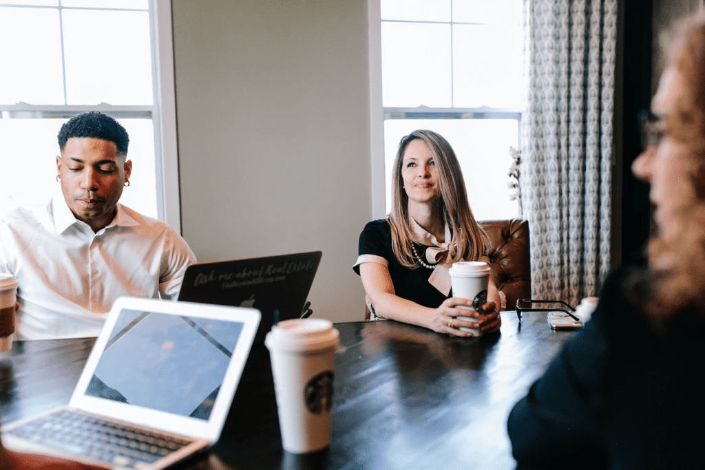 Management asking team-building-questions